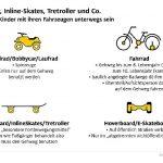 Bobbycar, Inline-Skates, Tretroller und Co. / So dürfen Kinder mit ihren Fahrzeugen unterwegs sein